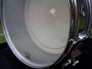 Slingerland Vintage Snare Drum Niles IL Chrome 66 zoomatic Strainer