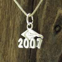 Graduation Year 2012 Sterling Silver Pendant/Charm