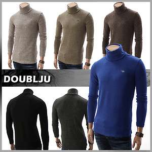 Mens Casual Knitted Turtleneck Sweater Shirt (DA15)