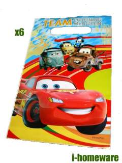 Cars 2 Disney Birthday Party Toy 6x Gift Loot Bags c076