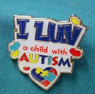 New I Luv A Child Autism Color Puzzle Piece Pin Tac