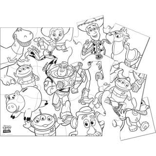 Toy Story Birthday Party Jumbo Coloring Floor Puzzle