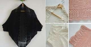 Womens Thin Bat Hollow Cardigan Sweater Shawl Vest Shirt H501