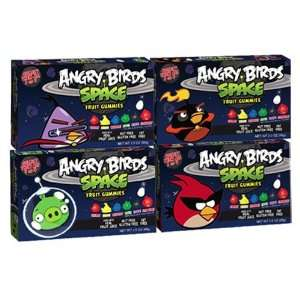 Angry Birds Space Fruit Gummies Combo Case 3.5oz 12 Pack (3 Each of
