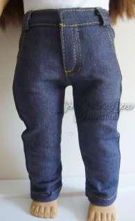 Denim Skinny Leg Blue Jeans for 18 Inch Dolls TOO COOL