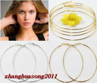 60.70.80.90mm gold silver Circle Basketball Wives Hoop Earring