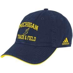 adidas Michigan Wolverines Navy Blue Collegiate Track
