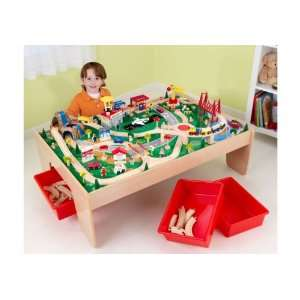 Waterfall Mountain Train Set Table: Kitchen & Dining