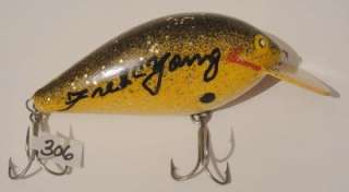 Original Fred C Young Early Big O Lure RARE Pin Eyes
