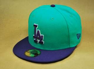 NEW ERA 59FIFTY MLB BASEBALL CAP LOS ANGELES DODGERS MLBBASIC HAT TEAL