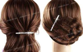 Silver Plated Rhinestone Bobby Pins Hair Clips 2.4 HOT