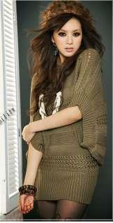 Korea Women Vogue Sexy Batwing 1/2 Sleeves ZGX162 Knitting Jumper