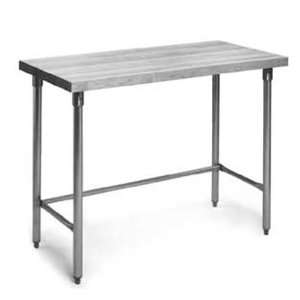 Eagle Group MT3048ST Bakers Table 1 3/4 Thick Wood Top Stainless Steel