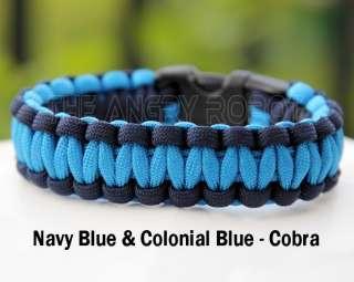 Paracord Survival Bracelet Cobra   Orange Camo & Black