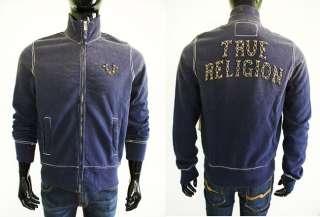 True Religion Mens Track Velour Sweat Suit Jacket 100%AUTH