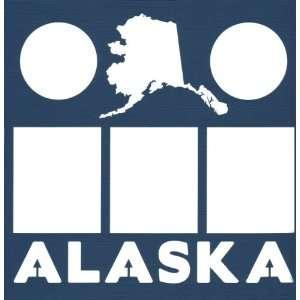 Alaska State 12 x 12 Overlay Laser Die Cut  Sports