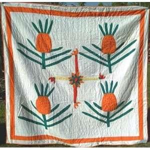 Antique Folk Art Pineapple Quilt