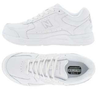 NEW BALANCE Mens Leather Walking Shoes, White or Black