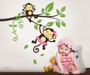Branch Vine Fit Baby Room Vinyl Wall Paper Decal Art Sticker T119