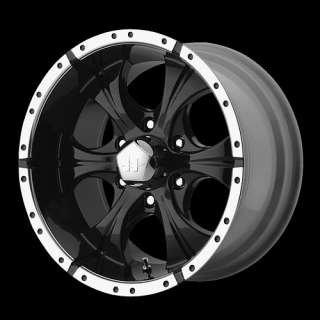 Helo 791 Black Machine 16x8 Chevy Dodge Ford GMC