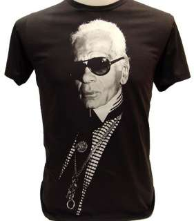 KARL LAGERFELD Top Fashion Designer Icon T Shirt XL