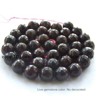 10mm Round Faceted Shape Red Garnet Gemstone Beads 15