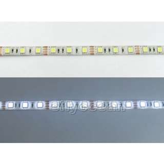 LED Strips 300 leds lights WaterProof Pure White 60 Led/Meter