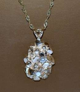 GOLD NUGGET CHARM PENDANT SOLID 14K CUSTOM MADE WITH 2 REAL DIAMONDS 0