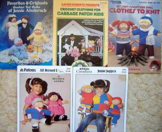 Cabbage Patch Doll Knitting Crochet Patterns & Books
