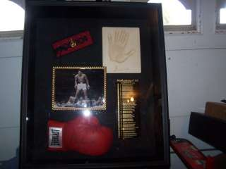 Muhammad Ali signed Boxing Glove Online Auth. Collage