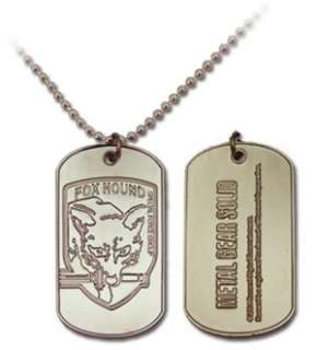 Metal Gear Solid 3 Snake Eater Fox Hound Dog Tag *New*
