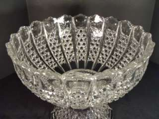 American Brilliant ANTIQUE Cut Glass Crystal PUNCH BOWL 14 Circa 1900