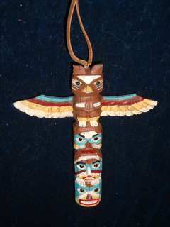 Unique Tribal Totem Pole Holiday Christmas Tree HANGING Ornament New