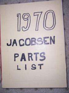 1961 1970 Jacobsen Power Lawn Tool Parts List Mower + F
