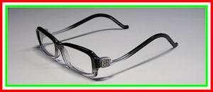 53 14 140 VISION BLACK/CLEAR EYEGLASSES/GLASSES/FRAME WOMENS