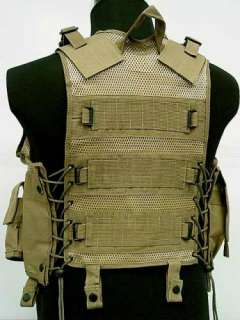 US Airsoft Hunting Tactical Assault Vest Coyote Brown B