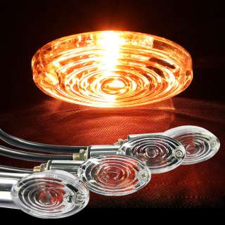 Amber Motorcycle Turn Signals Lights Lamp Short Stalk