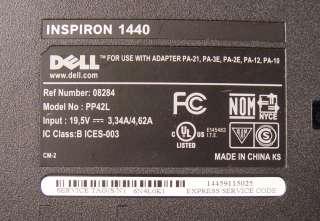 DELL INSPIRON 1440 Blue LAPTOP NOTEBOOK COMPUTER