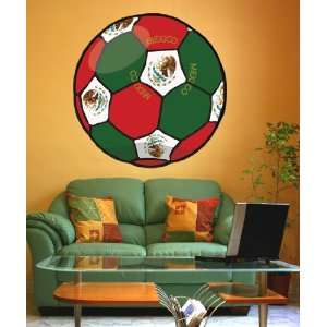 Vinyl Wall Decal Sticker Football Soccer Mexico JH137B