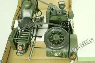 Made Metal Art Bar Decor 1/6 Motorcycle w Sidecar BMW R75 1940