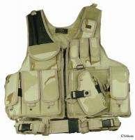 Desert Camo CROSS DRAW Airsoft Tactical Assault Belt Vest Gun Holster