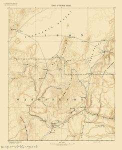 USGS TOPO MAP ST. GEORGE SHEET UTAH (UT) 1891 MOTP