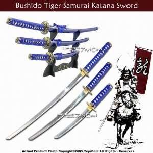 Japanese Blue Bushido Tiger Samurai Katana Sword* Set