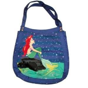 Mermaid Tote Bag   Ariel Dreaming Under a Starry Sky