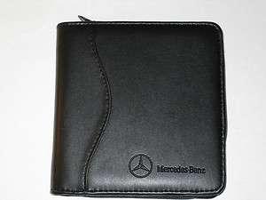 Original Mercedes Benz Leather CD DVD Disk Case Wallet  Holds 18+ CDs