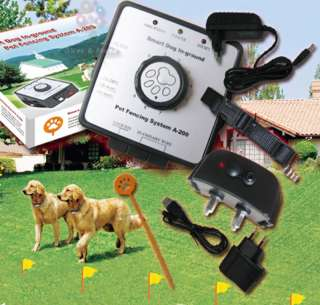 Electric Dog Pet Fence Rechargeable Shock Collar system