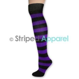 Striped Knee High Socks Ladies Stripes Dance Team School Sports Clown