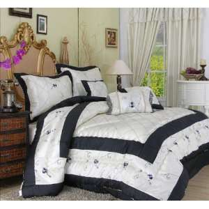 KING SIZE Asian CALIGRAPHY WISDOM bedding comforter set ...