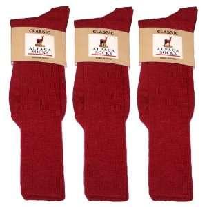 Alpaca Classic Socks   3 Pairs Small   Red Everything