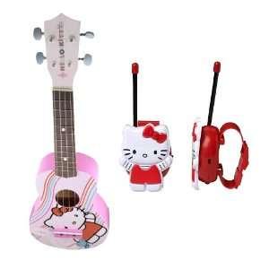 Hello Kitty Ukelele Guitar + Hello Kitty Bracelet Walkie